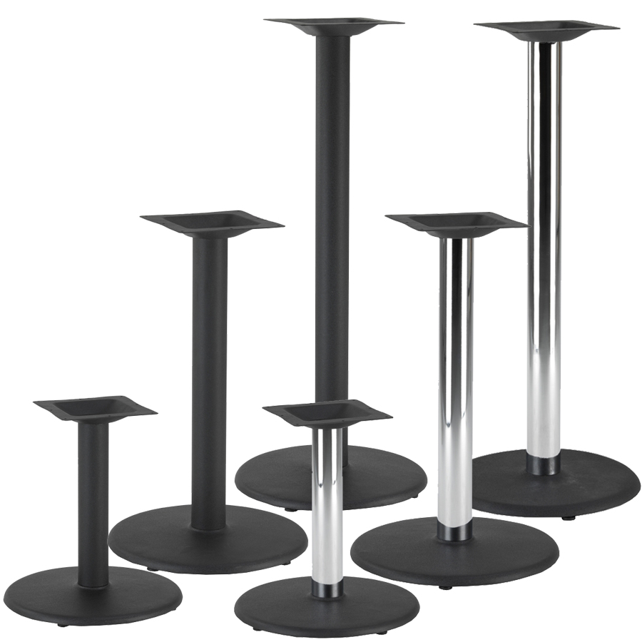 Coffee Height Round Large Table Base Round Column: Circle Style Cast Iron Table Base